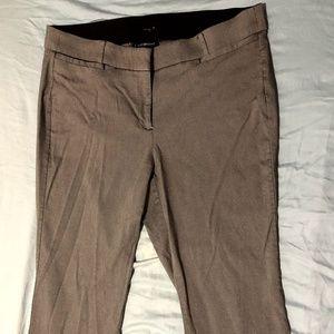 Gray Herringbone Boot-cut Trouser